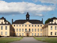 """Ulriksdal palace from the 17th century, One of the royal palaces of the swedish royal court, located in the national city park in Stockholm."""